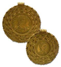 5th century Byzantine coin jewelry