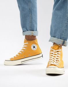 finest selection 9fe93 a0004 Converse Chuck Taylor All Star  70 Hi Sneakers In Yellow 162054C
