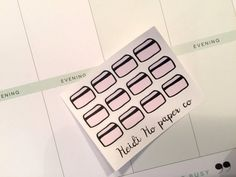 12 Bill due/Credit Cards Planner Stickers- Happy Planner, Erin Condren, Kikki K, Recollections, Plum Paper