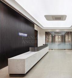 Office Reception Design, Modern Hotel Lobby, Haikou, Lobby Reception, Office Lobby, Luxury Office, Counter Design, Lobby Design, White Paneling