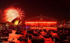 Sydney Harbor, NYE 2012  Another super cool spot to ring in the New Year.