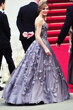 Crown Princess Letizia of #Spain in a ballgown