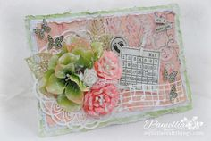 My Little Craft Things: Try it on Tuesday - New Beginnings Shabby Chic Cards, Craft Things, New Beginnings, Handmade Cards, Tuesday, Embellishments, Card Ideas, Mixed Media, Card Making