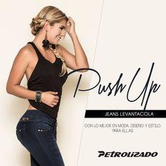 Resalta tus curvas, con nuestros #jeanslevantacola. Sólo en #PetrolizadoJeans