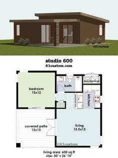 Casa pequena de 1 quarto