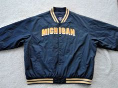 Vintage Michigan Wolverines Football Starter or Varsity Jacket Coat by Steve & Barry's Quality Appearal Outfitters - Size XXXL by CircaPasse on Etsy https://www.etsy.com/listing/501988799/vintage-michigan-wolverines-football