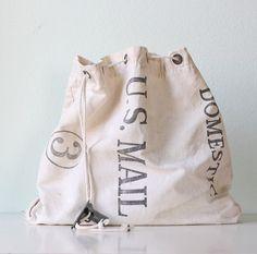vintage mail bag!
