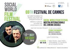 Si terrà martedì 17 maggio 2016 alle ore 16,30 al Padiglione Italia presso l'Hotel Majestic (Salon Marta) sulla celebre croisette del Festival de Cannes la consueta presentazione alla stampa intern…