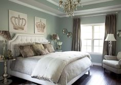 photos of rooms painted with Sherwin Williams Silvermist - Google Search