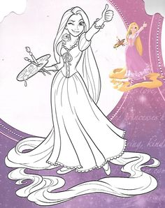 disney tangled coloring pages printable Rapunzel