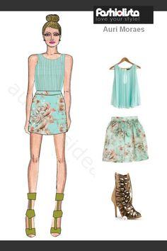 Auriele (desenhos de Moda): Fashion Lista - Auri Moraes