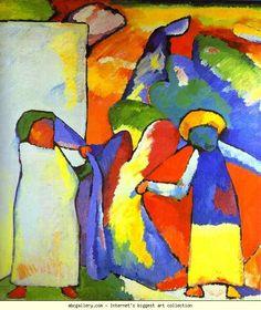 Wassily Kandinsky. Improvisation 6 (African). 1909. Oil on canvas. 107 x 99.5 cm. Städtische Galerie im Lenbachhaus, Munich, Germany