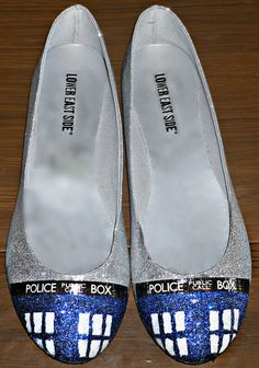 We have some super great clearance sales going on right now! More than 50% off Nerdy shoes - clearing out the warehouse!!! Doctor Who Clearance Tardis Shoes Promo Size 6 Size 7 by NerdStyle, $24.00