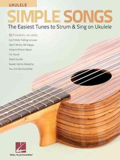 "Read ""Simple Songs for Ukulele The Easiest Tunes to Strum & Sing on Ukulele"" by Hal Leonard Corp. 50 favorites for standard G-C-E-A ukulele tuning, including: All Along the Watchtower * Burning House * Can't. Ukulele Tuning, Ukulele Chords, Ukulele Books, Ukulele Tabs, Cant Help Falling In Love, Love Me Do, Bye Bye Love, Easy Ukulele Songs, Something In The Way"
