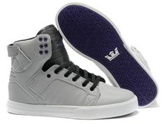 2012 New Supra Skytop In Grey Black White