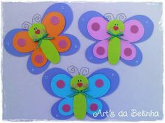 Mariposas #manualidadesfaciles Daycare Crafts, Paper Crafts For Kids, New Crafts, Creative Crafts, Easter Crafts, Diy And Crafts, School Art Projects, Projects For Kids, Craft Projects