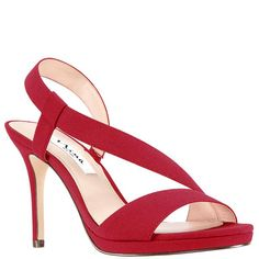c79eb708064 ROBINA-RED GEORGETTE Holiday Shoes