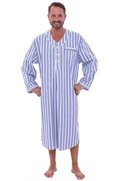 Cotton Sleep Shirts Wonka Costume Man Weave Clic Night Gown Kaftan Fabric Dark Blue Trust Pajama Men Dress Deep