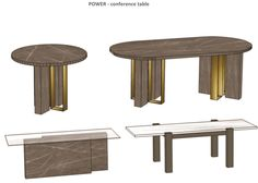"Conference tables concepts from high-class ""POWER"" collection. Concept can be made from different materials, textures and colours. Let us know what you think."