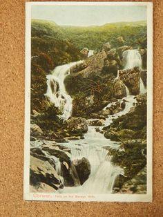Vintage Postcard: Corwen, Falls on the Berwyn Hills, Wales1908  Picclick.com