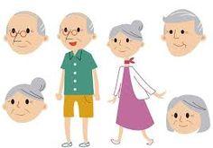 Resultado de imagem para casal idosos desenho
