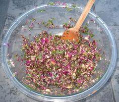 Marinated dandelion salad option 1 involves soy sauce.