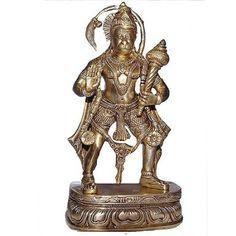 Amazon.com: Lord Hanuman Brass Statue in Standing Posture: Furniture & Decor