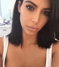 Kim Kardashian's short lob haircut by celebrity stylist Gregory Russell