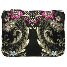 mini portatodo Bolso fallera @ con detalles florales, realizados en tela de seda y cuero. fallera bag with floral pattern. #bag #clutch #bolso http://fallera.com/es/bolsos/bc001024-detail