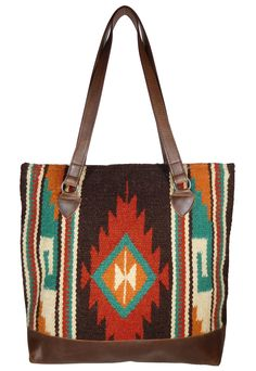 Amazon.com: Large Tote Bag Purse, Hand Woven Wool Tote by El Paso Designs In Western & Native American Designs (Turquoise): Clothing
