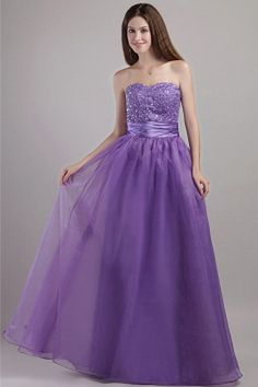 Buy beautiful beaded sweetheart floor length organza purple evening party dresses from lilac evening dresses collection, strapless neckline a line in color,cheap floor length dress with lace up and for prom formal evening party . Winter Prom Dresses, Party Dresses 2014, Holiday Party Dresses, Party Gowns, Cheap Gowns, Cheap Prom Dresses, Pageant Dresses, Quinceanera Dresses, Homecoming Dresses