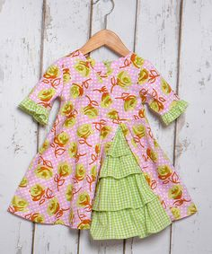 This Lime Roses Ruffle Surplice Dress - Toddler & Girls is perfect! #zulilyfinds