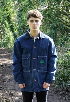Vintage Wrangler American Chore Workwear Jacket from headlock vintage