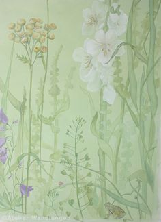 wall covering, atelier wandlungen berlin, children's room, dec – Wall Pictures Art Mural, Wall Murals, Wall Art, Nursery Decor, Bedroom Decor, Wall Drawing, Chinoiserie, Wall Design, Street Art