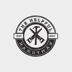 Craftsman styled vintage/hipster logo for handyman business Vintage Logo Design, Custom Logo Design, Logo Vintage, Graphic Design, Handyman Logo, Maintenance Logo, Construction Company Logo, Innovative Logo, Property Logo