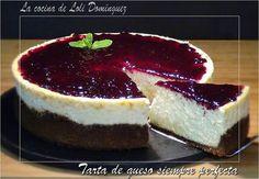 Tarta de Queso Crema Perfecta - La Tarta de Queso es un postre que siempre gusta a todo el mundo. No te pierdas esta del blog LA COCINA DE LOLI DOMINGUEZ.