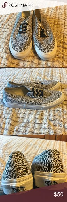 Vans shoes Worn one time. Women's size 9/mens size 7.5. Excellent condition. Find me on Ⓜ️ercari for cheaper prices. Vans Shoes