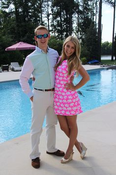 Cute preppy couple in vineyard vines and Lilly Pulitzer