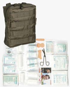 Shop MilTec New Leina First Aid Large Tactical Kit with MOLLE Bindings, 43 Pieces, First Aid. Camping First Aid Kit, Emergency First Aid Kit, Survival, Molle Pouches, Belt Pouch, Bug Out Bag, Stuff To Buy, Genie, Tutorials