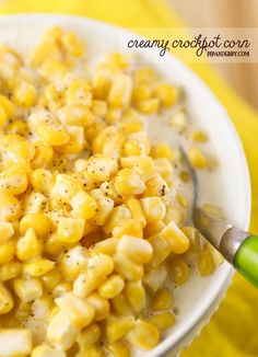 Creamy crockpot corn