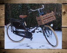 Fruitkist/fietskrat antiek-look met tekst (1 zijdig) middel 43x30