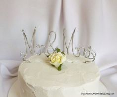 Mr And Mrs Cake Topper Wedding Decorations by HomesAndWeddings