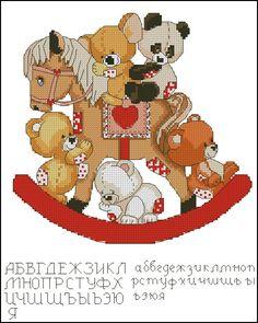 Gallery.ru / Teddy bears on a horse - Небесплатные - tani211