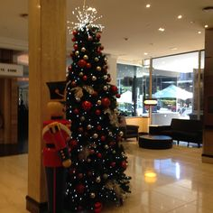 Lobby at the Parmelia Hilton in Perth at Christmas time