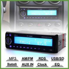 12V Bluetooth Car Radio Player Stereo FM MP3 Audio USB SD AUX Auto Electronics autoradio 1 DIN oto teypleri radio para carro
