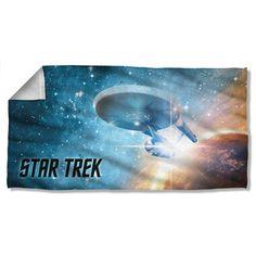 Star Trek 1960's Sci-Fi Action TV Series Final Frontier Beach Towel