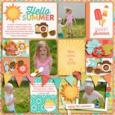 Pocket Scrapbooking Template:  You've Got Me In Pieces #8 - for Digital Project Life Scrappers by TheNellFiles Hello Summer: School's Out! Bundle by Jady Day Studio #digitalscrapbooking #digitalprojectlife #projectlife