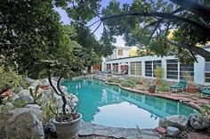 Pin for Later: Stop Everything and Tour Jared Leto's New $5 Million Military Compound  The large pool can be used all year long in LA's mild weather.   Source: Everett Fenton Gidley