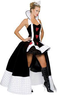 Sexy Queen of Hearts Costume - Alice In Wonderland Costumes
