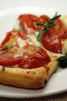 Tomato, Spinach, and Rosemary Tart